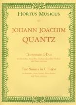 Quantz J.j. - Triosonate C-dur - Flb Alto, Fl. Trav Et Bc