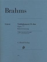 Brahms J. - Concerto Pour Violon En Re Majeur Op.77 - Violon and Piano