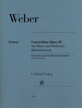 Weber Carl Maria - Cocnertino Op.45 - Cor and Piano
