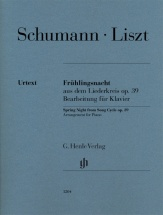 Liszt F. - Spring Night From Song Cycle Op.39 (schumann) - Piano