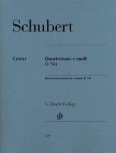 Schubert F.  - Mouvement Pour Quatuor A Cordes En Ut Mineur D 703
