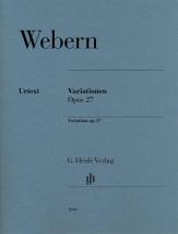 Webern A. - Variations Op.27 - Piano
