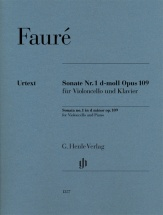 Faure Gabriel - Sonate N.1 Op.109 - Violoncelle and Piano