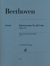 Beethoven L.v. - Sonate Pour Piano N. 22 Op.54