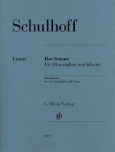 Schulhoff Erwin - Hot-sonata - Saxophone Alto and Piano
