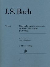 Bach J.s. - Capriccio Sopra La Lontananza Del Fratro Diletissimo  Bwv 992