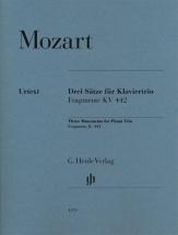 Mozart W.a. - Trois Mouvements Pour Trio Avec Piano, Fragments Kv 442