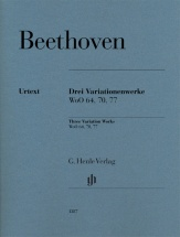 Beethoven L.v. - 3 Oeuvres A Variations Woo 64, 70, 77 - Piano