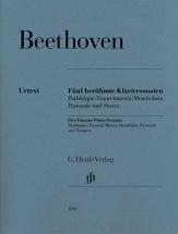 Beethoven L.v. - Five Famous Piano Sonatas