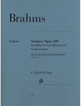 Brahms J. - Sonatas For Piano And Clarinet (or Viola) Op. 120,1 And 2 - Viola Part