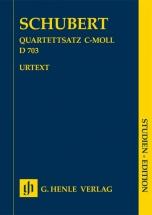 Schubert F.  - Mouvement Pour Quatuor A Cordes En Ut Mineur D 703 - Score