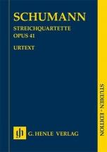 Schumann Robert - String Quartets Op.41 - Score
