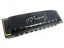 Hohner Harmonica Souvenir I Love France