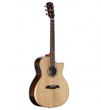 Alvarez Ag70ear Electro-acoustique, Armrest Et Eclisse En Erable Flamme, Natural Gloss - Artist Series