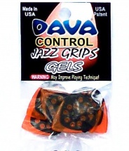 Dava Mediators Jazz Grips Gel, Sachet De 6 Pieces.