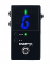 Rockgear Rocktuner Pt 2 - Pedale Accordeur Chromatique - Black