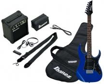Ibanez Ijrg200-bl Jumpstart Pack Avec Guitare Electrique Bleue + Amplificateur + Casque