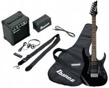 Ibanez Ijrg200-bk Jumpstart Pack Avec Guitare Electrique Noire + Amplificateur + Casque