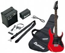 Ibanez Ijrg200-rd Jumpstart Pack Avec Guitare Electrique Rouge + Amplificateur + Casque