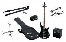 Ibanez Ijsr190-bk Jumpstrat Pack Avec Basse Noire + Amplificateur + Casque + Stand