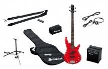 Ibanez Ijsr190-rd Jumpstart Pack Avec Basse Rouge + Amplificateur + Casque + Stand