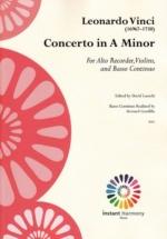 Vinci Leonardo - Concerto A Minor - Flute A Bec Alto, Violons & B.c.