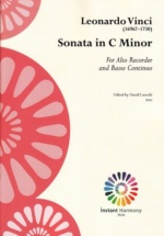 Vinci Leonardo - Sonata C Minor - Flute A Bec Alto & Bc