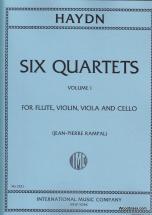 Haydn J. - Quartetti (6) Vol. 1 (fl., Vn, Va, Vc) - Parties