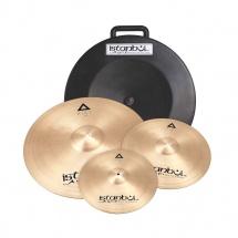 Istanbul Agop Xist Set - Pack 3 Cymbales Serie Xist - Hh14 + Crash 16 + Crash 18 + Ride 20 - Avec Etui