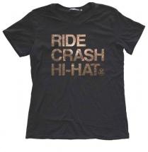 Istanbul Agop T-shirt Ride Crash Hi-hat Bk-m