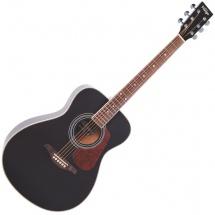 Vintage Guitars V300bk Solid Top Black