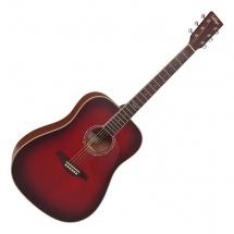Vintage Guitars V501bgb Satin Burgundy Burst
