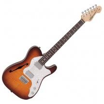 Vintage Guitars V72hftb Flame Tobacco Burst