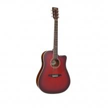 Vintage Guitars Vec501bgb Satin Burgundy Burst With Usb