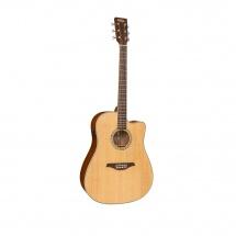 Vintage Guitars Vec501n Satin Natural With Usb