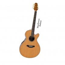 Pilgrim Vpg900n Mayflower Deluxe Electro Guitar Natural