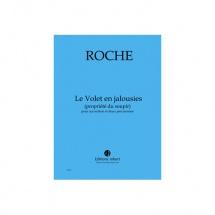 Roche Colin - Le Volet En Jalousies (propriete Du Soupir) - Accordeon Et 2 Percussions
