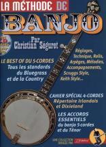 Seguret Christian - La Methode De Banjo 4 Et 5 Cordes Rebillard + Cd - Banjo