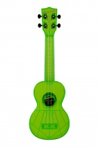 Kala The Waterman Soprano Plastique Abs Fluorescent Transparent Green