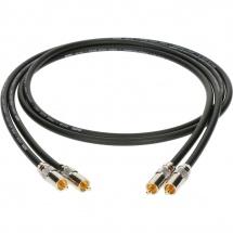 Klotz Audiolead Noir 0,3m 2pcs. Rca - Rca Contacts En Or