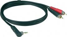 Klotz Ay7a0100 Enregistrement Mobile Out Câble Y Noir 1 M