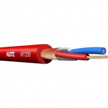 Klotz My206rt.a - Câble Micro Symétrique Pro Bobine 100m Rouge