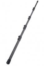 Kandm 23785 - Perche Noire Pour Micro - Hauteur Reglable De 800 A 2825 Mm - Noir