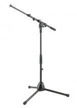 K&m 25900-300-55 Pied De Microphone Noir Perche Basse Embase Trepied