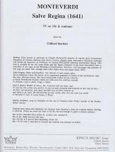 Monteverdi C. - Salve Regina, 1641 - Deux Tenors