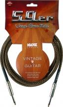 Klotz Vin-0600 Guitare 59 Vintage Noir / Jaune 6 M