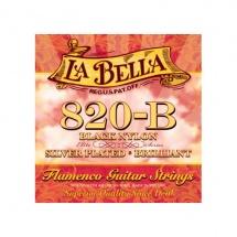 Labella Pack De 12 Cordes Flamenco Nylon Noir Si 2 ? Medium Tension