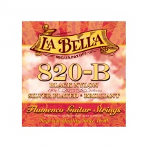 Labella Pack De 12 Cordes Flamenco Nylon Noir Sol 3 ? Medium Tension