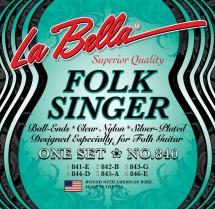 Labella Nylon Clair A Boules ? Folk Singer Serie ? Medium Tension