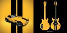 Guitare Electrique Lag Roxane Racing Bedarieux 1500 Racing Yellow